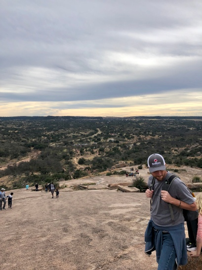 View from halfway up Enchanted Rock