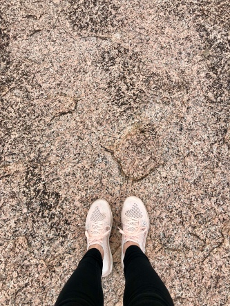 I wore my camo for this pink granite rock